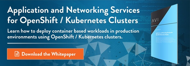 Application and Networking Services for OpenShift/Kubernetes Clusters